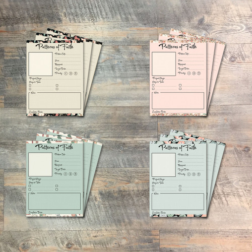 """Patterns of Faith Journaling Cards - 12 3x4 Journaling Cards  to Match """"Handcrafted"""" Kit"""