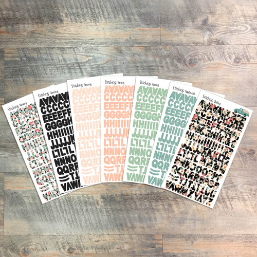 """Stitching Clear Stickers - 7 Sheets of Clear Stickers, Inspired by """"Handcrafted"""" - For the margins of your Bible!"""