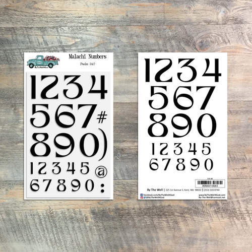 Malachi Numbers - 4x6 Stamp Set