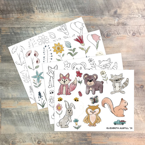 Stitched Together - Digital Ephemera Download - Created by Elizabeth Austill