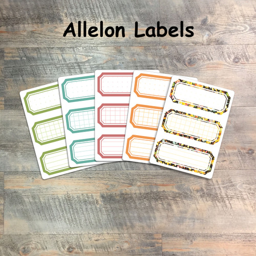 """Allelon Labels - 5 Sheets of Label Stickers from BTW4G- Inspired by """"One Another"""""""