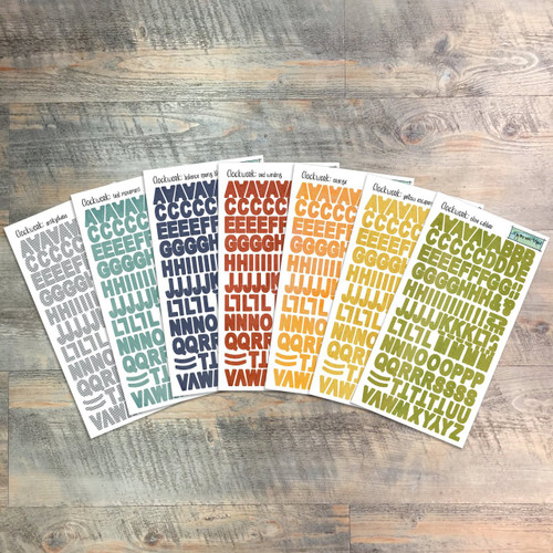 "Clockwork - Clear Stickers - 7 Sheets of Clear Stickers, Inspired by ""Just in Time"" - Perfect for the margins of your bible"