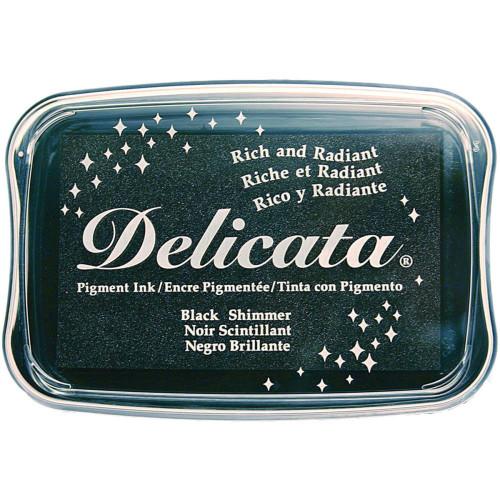 Delicata Black Shimmer Pigment Ink Pad