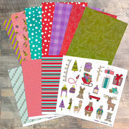 """Digital Paper Collection for """"His Name Will Be..."""" Devotional Kit - 12 Sheets of Coordinating Papers - by ByTheWell4God"""