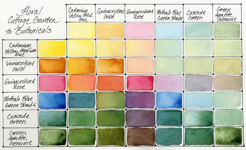 Daniel Smith: Floral - Cottage Gardens to Botanicals Hand Poured Watercolor Half Pan Set - Bible Journaling Supplies