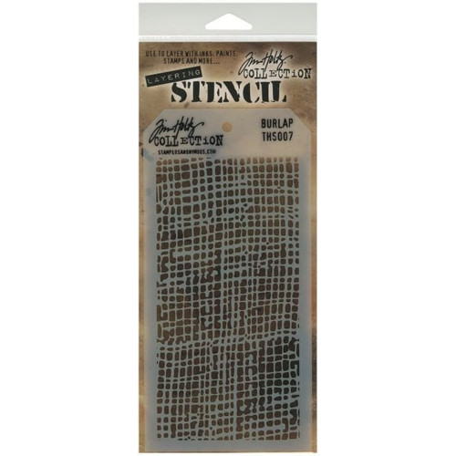 Burlap Layering Stencil - Stampers Anonymous - Tim Holtz- Great for backgrounds!