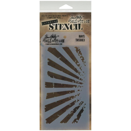 Rays Layering Stencil - Stampers Anonymous - Tim Holtz- Great for backgrounds!