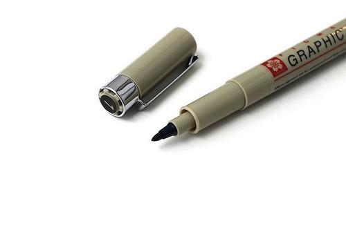Sakura Pigma Graphic Pen - 1.0 mm - Black Ink - The Graphic 1 Pen