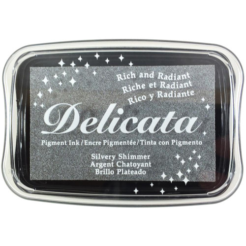 Delicata Silvery Shimmer Pigment Ink Pad
