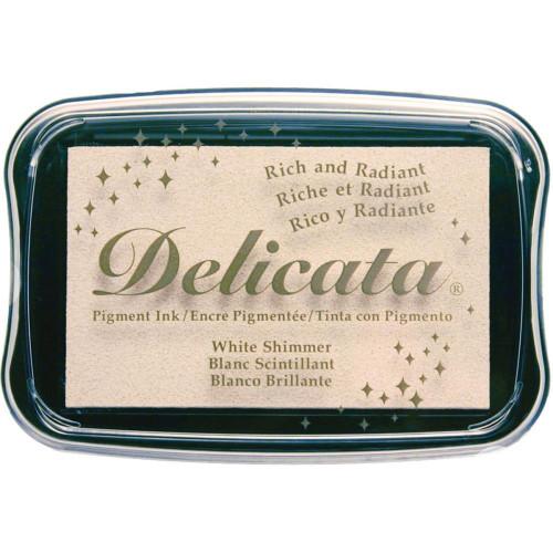 Delicata White Shimmer Pigment Ink Pad