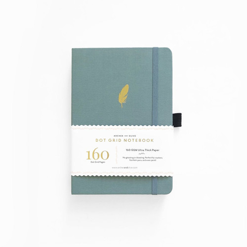 A5 Floating Feather Dot Grid Notebook by Archer & Olive