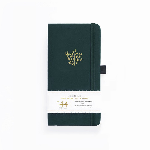 Traveler's Deep Green Dot Grid Notebook by Archer & Olive