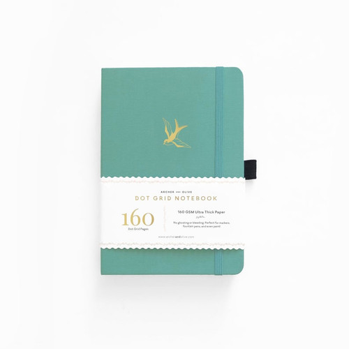 A5 Gliding Swallow Dot Grid Notebook by Archer & Olive