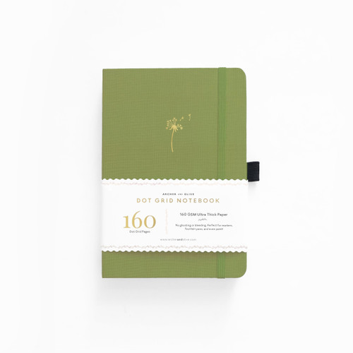 A5 Dandelion Dreams Dot Grid Notebook by Archer & Olive