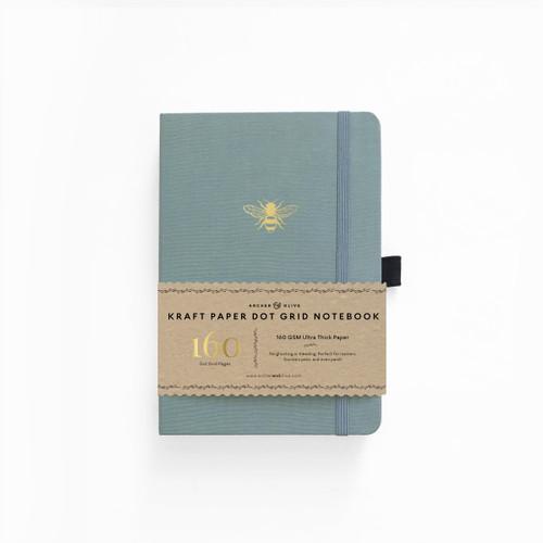A5 Vintage Bee Kraft Paper Dot Grid Notebook by Archer & Olive