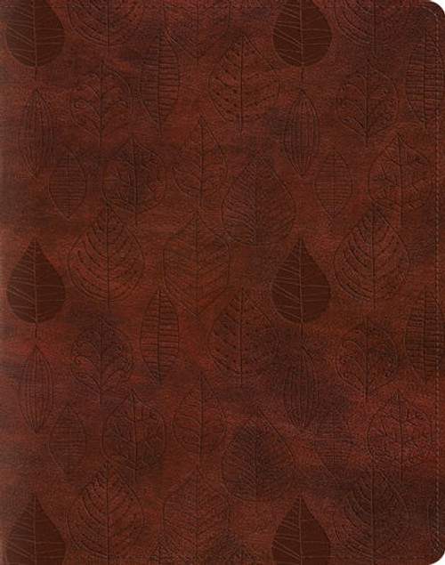 Leaves Design, ESV Single Column Journaling Bible (TruTone, Chestnut), Bible Journaling, for Bible Journaling