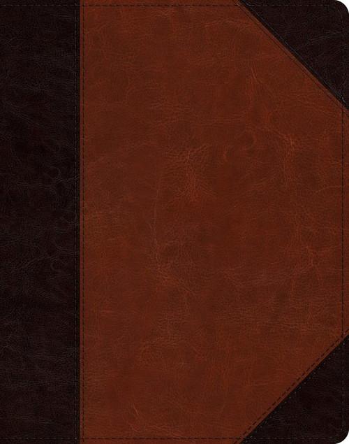 ESV Single Column Journaling Bible (Trutone, Brown/Cordovan, Portfolio Design)