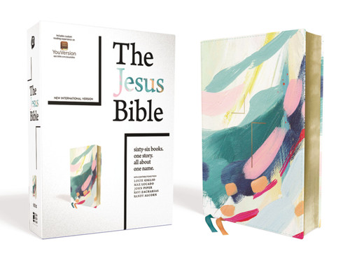The Jesus Bible, NIV Edition, Leathersoft, Multi-color/Teal