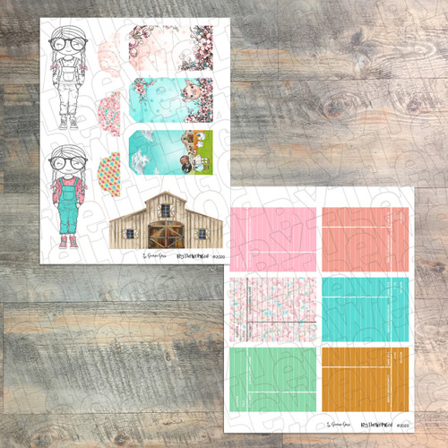 """Digital Paper Collection for """"Greener Grass"""" Devotional Kit - 5 Sheets of Coordinating Papers"""