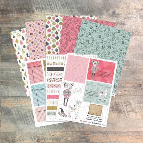 """Digital Paper Collection for """"Redemption Unwrapped"""" Devotional Kit - 8 Sheets of Coordinating Papers - by ByTheWell4God"""