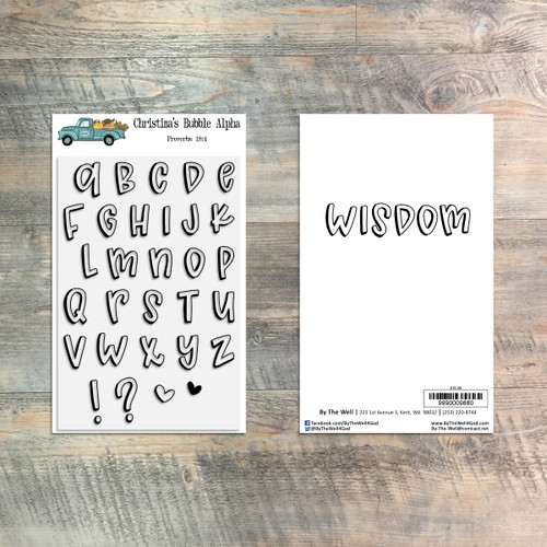 Christina's Bubble Alpha Stamp Set - 30 Piece Stamp Set - ByTheWell4God