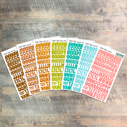 """Desert Hope - Clear Stickers - 7 Sheets of Clear Stickers, Inspired by """"Liars & Thieves"""" - Perfect for the margins of your Bible"""