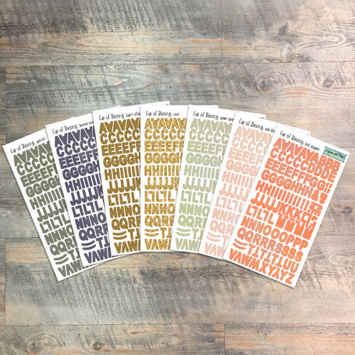 """Cup of Blessing - Clear Stickers - 7 Sheets of Clear Stickers, Inspired by """"Come to the Table"""" - Perfect for the margins of your Bible"""