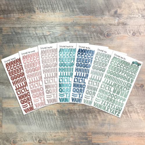 """Entwined - Clear Stickers - 7 Sheets of Clear Stickers, Inspired by """"A Heart at Rest"""" - Perfect for the margins of your Bible"""