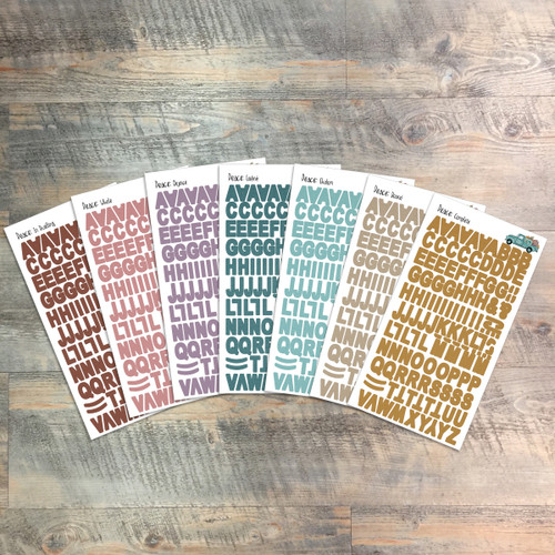 "Peace - Clear Stickers - 7 Sheets of Clear Stickers, Inspired by ""My Peace"" - Perfect for the margins of your Bible"