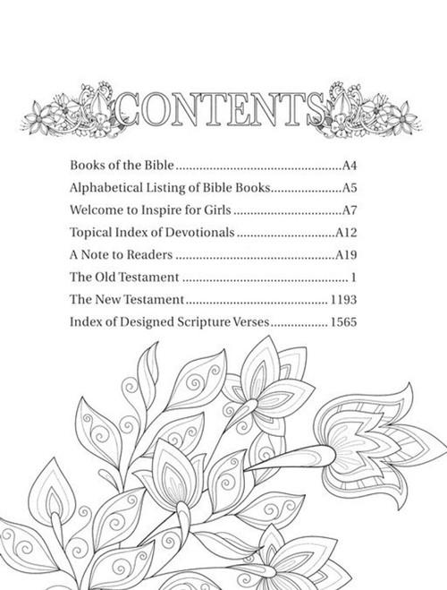 NLT Inspire Bible for Girls, for Journaling Your Faith Journey