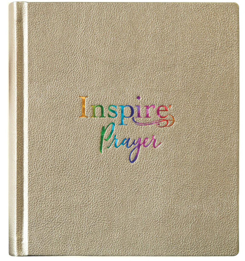 NLT Inspire Prayer Bible--Soft Leather-Look, Metallic Gold over Hardcover