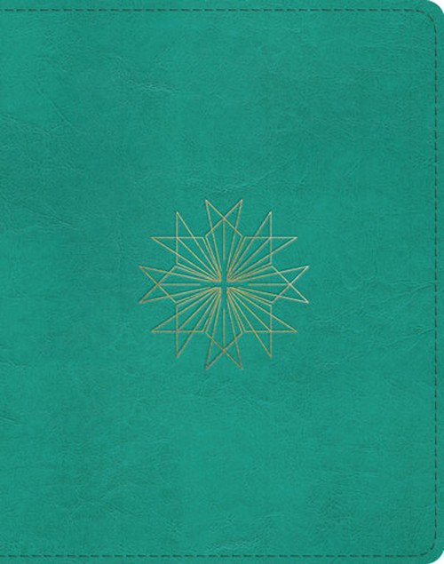 ESV Single Column Journaling Bible (TruTone, Teal, Resplendent Cross Design), for Bible Journaling