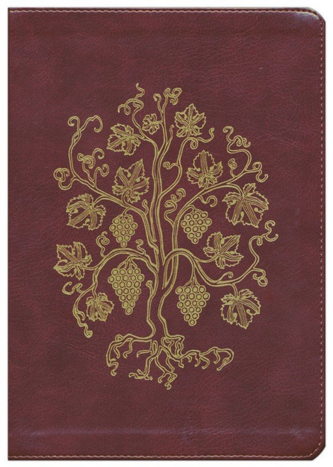 Grapevine Design, Large Print, ESV Journaling Bible, Single Column Bible, (Trutone, Burgundy)