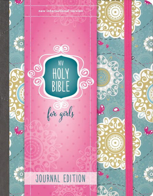 NIV Holy Bible for Girls, Journal Edition, Hardcover, Turquoise, Elastic Closure