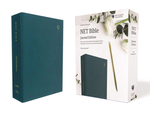 NET Bible, Journal Edition, Leathersoft, Teal, Comfort Print: Holy Bible