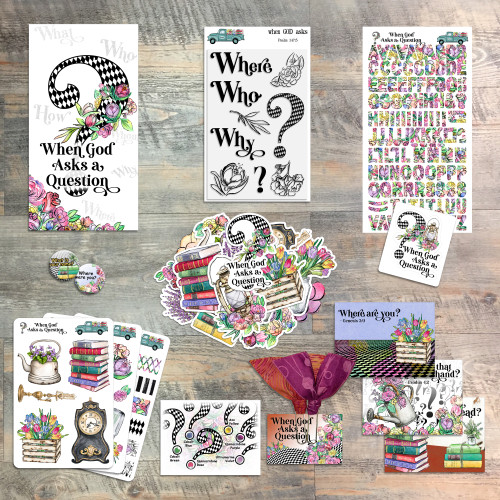 When God Asks a Question - Devotional Kit for Bible Journaling by Judi Allen - from ByTheWell4God