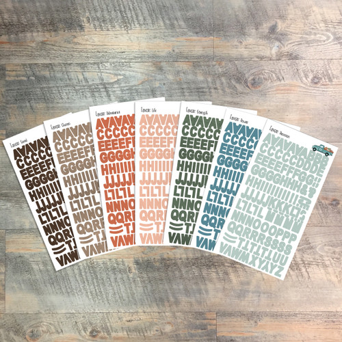 """Favor Clear Stickers - 7 Sheets of Clear Stickers, Inspired by """"Blessed to be a Blessing"""" - For the margins of your Bible!"""