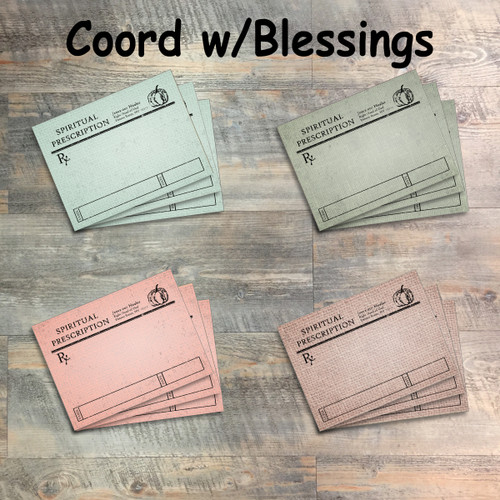 Blessed to be a Blessing Spiritual Prescription Journaling Cards - 12 3x4 Cards in Colors to Match Kit