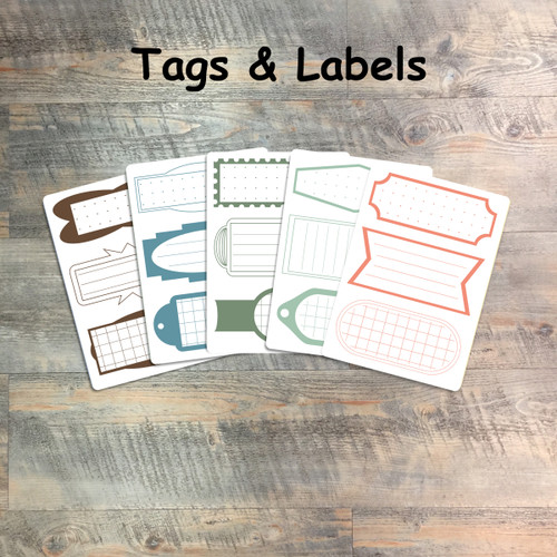 """Favor Tags & Labels - 5 Sheets of Tags and Label Stickers from BTW4G- Inspired by """"Blessed to be a Blessing"""""""