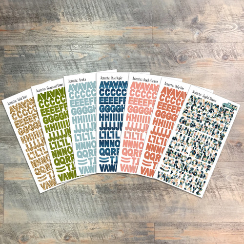 "Acrostic Clear Stickers - 7 Sheets of Clear Stickers, Inspired by ""Psalms, Making it Personal"" - For the margins of your Bible!"