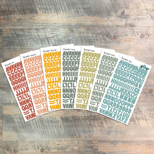 "Discourse - Clear Stickers - 7 Sheets of Clear Stickers, Inspired by ""A Meal Remembered"" - Perfect for the margins of your Bible"