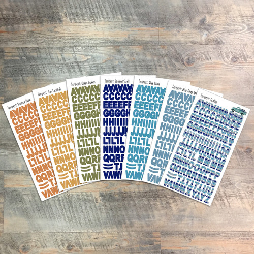 "Tempest Clear Stickers - 7 Sheets of Clear Stickers, Inspired by ""True North"" - For the margins of your Bible!"
