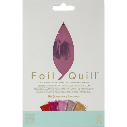 Flamingo Foil Quill Heat Activated Foil Sheets - for Bible Journaling and Crafting