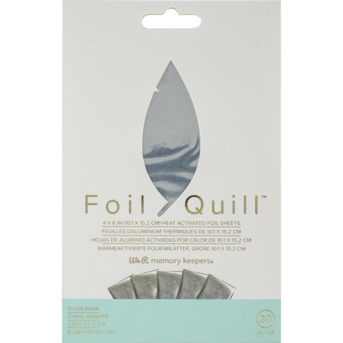 Silver Swan Foil Quill Heat Activated Foil Sheets - for Bible Journaling and Crafting