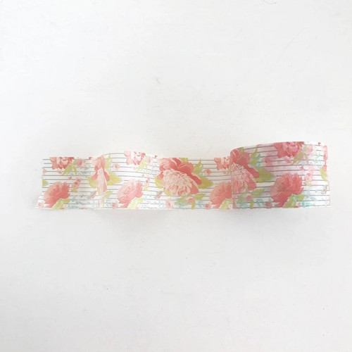 Floral Stripe Washi - 30mm Washi Tape - by Felicity Jane
