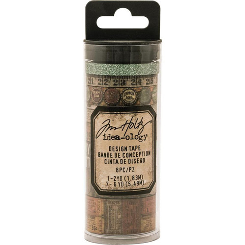 Vintage Idea-Ology Design Tape 8/Pkg - Washi Tape Set for Bible Journaling and Crafting by Tim Holtz