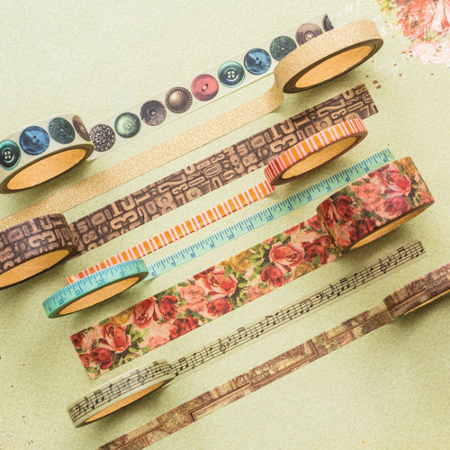 BoBunny Family Heirlooms Washi Tape - 8 rolls