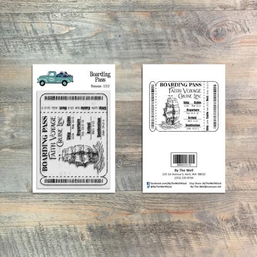 Boarding Pass - 1 Piece 3x4 Stamp Set - ByTheWell4God