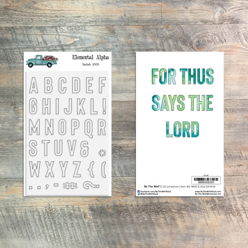 Elemental Alpha Stamp Set - 36 Piece Stamp Set - ByTheWell4God