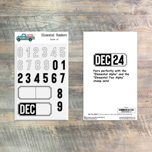 Elemental Numbers - 22 Piece Stamp Set - ByTheWell4God